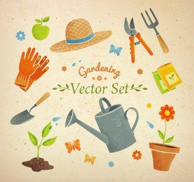 Gardening equipment set