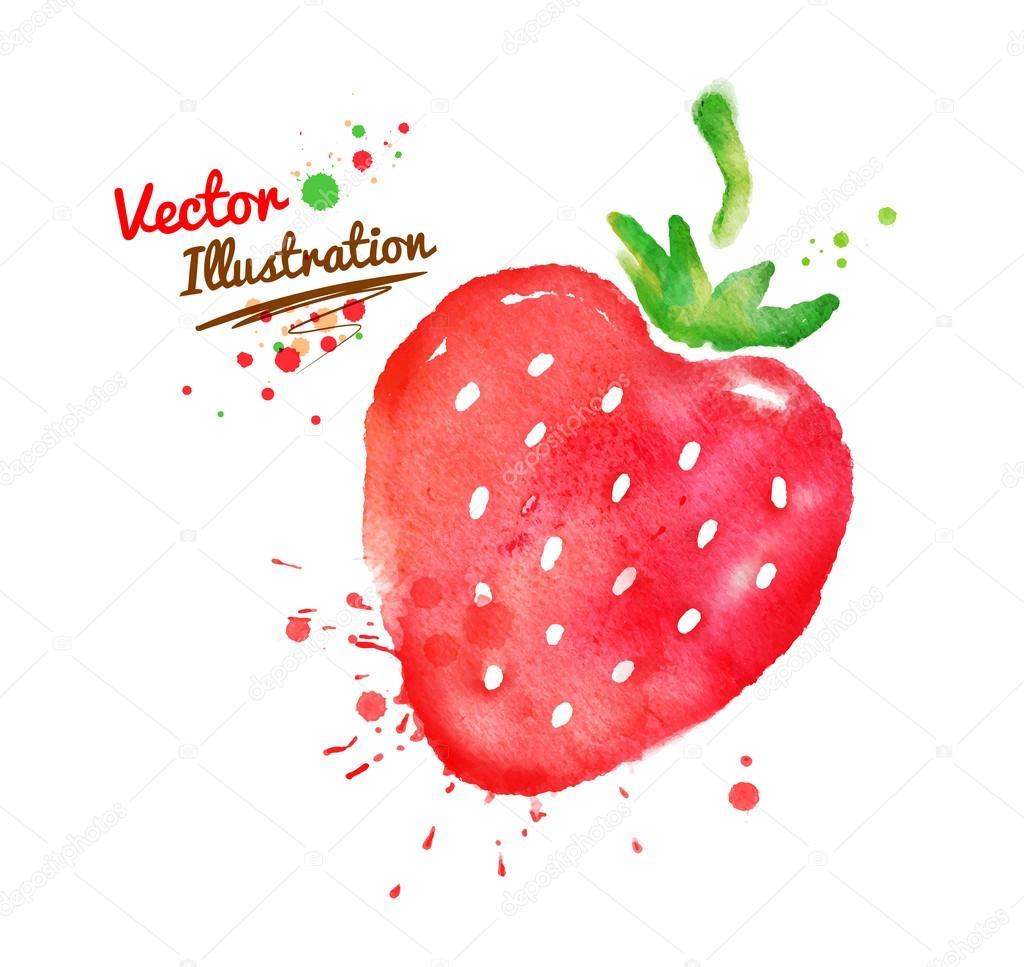 Hand drawn strawberry.