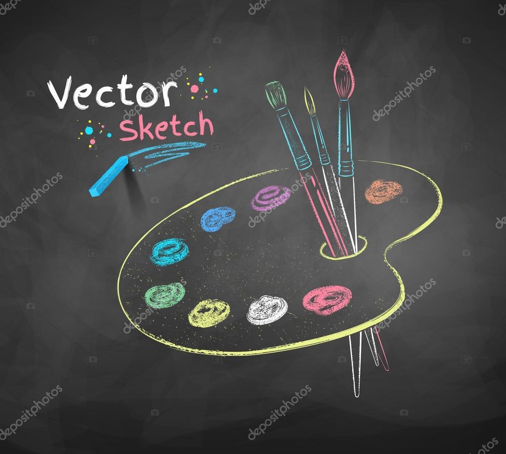 craies de dessin de la palette de peinture image vectorielle sonya illustration 78729082. Black Bedroom Furniture Sets. Home Design Ideas