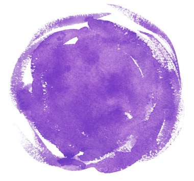 drawn Violet watercolor background.