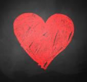 Křídou kresba srdce