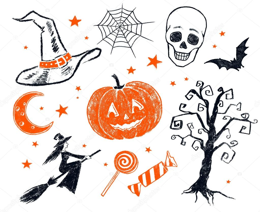 Oggetti Di Halloween.Halloween Characters And Objects Stock Photo C Sonya Illustration