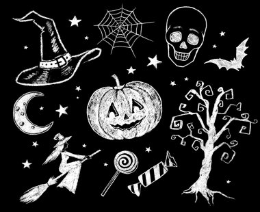 Halloween doodles collection.