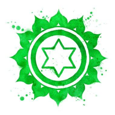 Anahata chakra symbol.