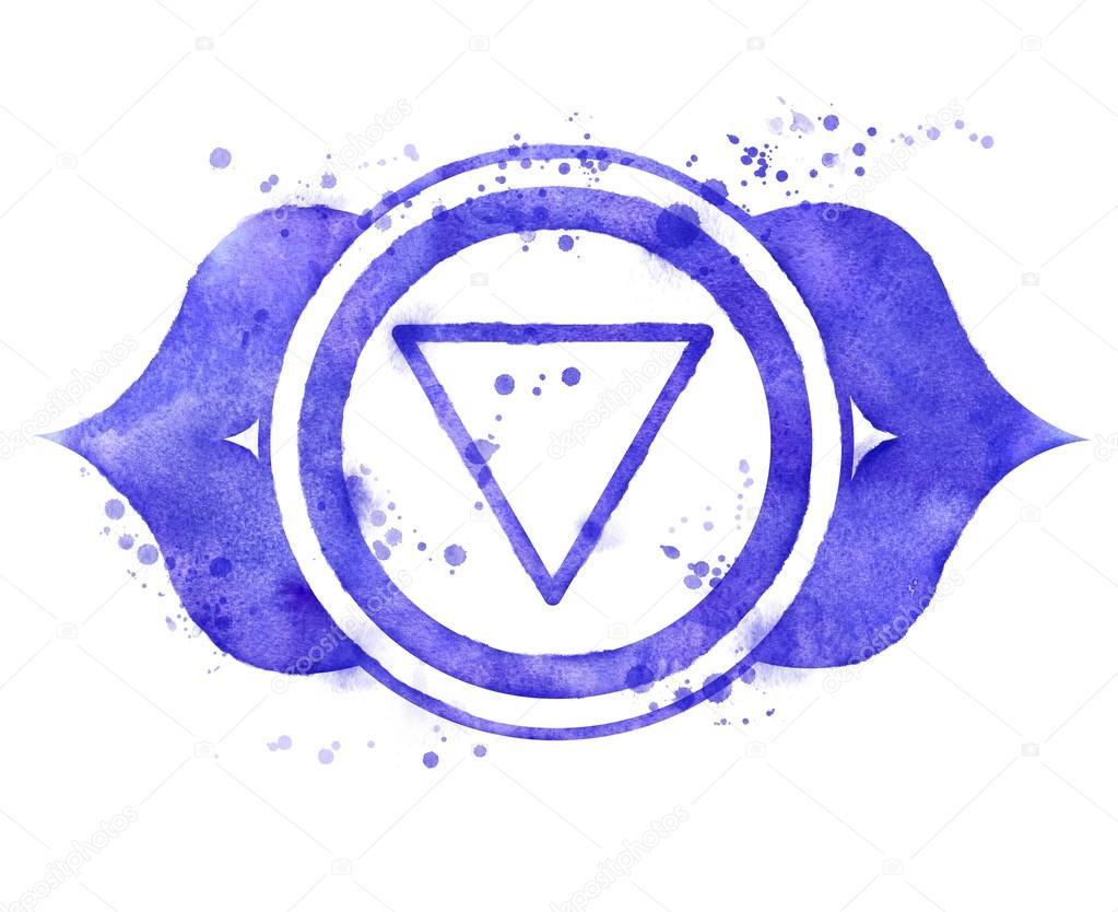 Ajna Chakra Symbol Stock Photo Sonyaillustration 83760506