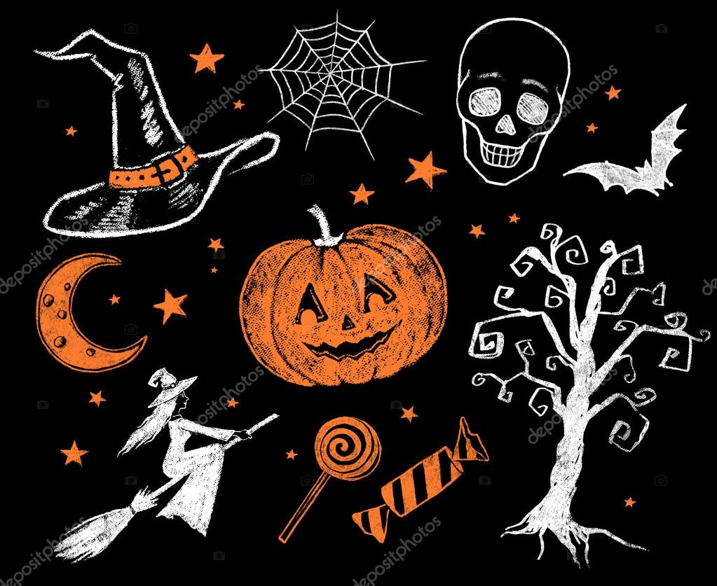 vintage halloween collection. — stock photo © sonya_illustration