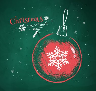 Christmas ball with snowflake