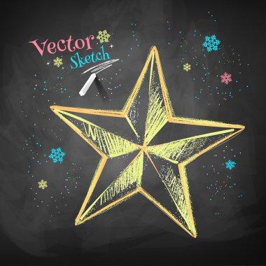 Sketch of Christmas star