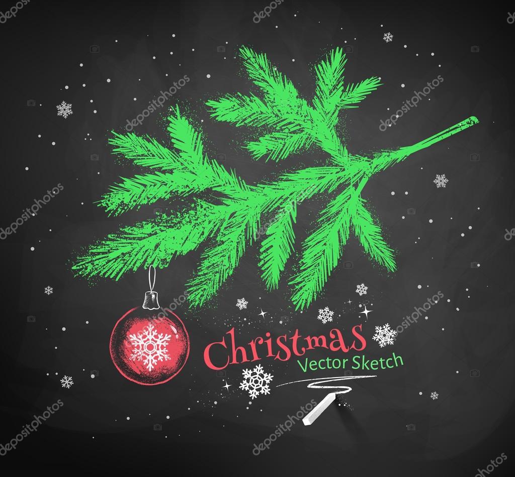 Christmas tree fir branch