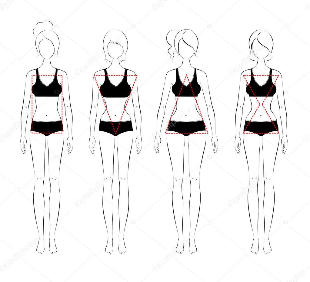 Female Body Fashion Sketch