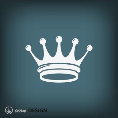 Crown flat design icon