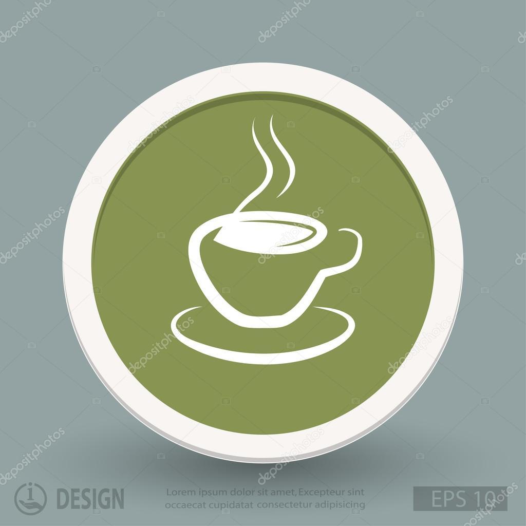 Icone di design piatto cup vettoriali stock hristianin for Design piatto
