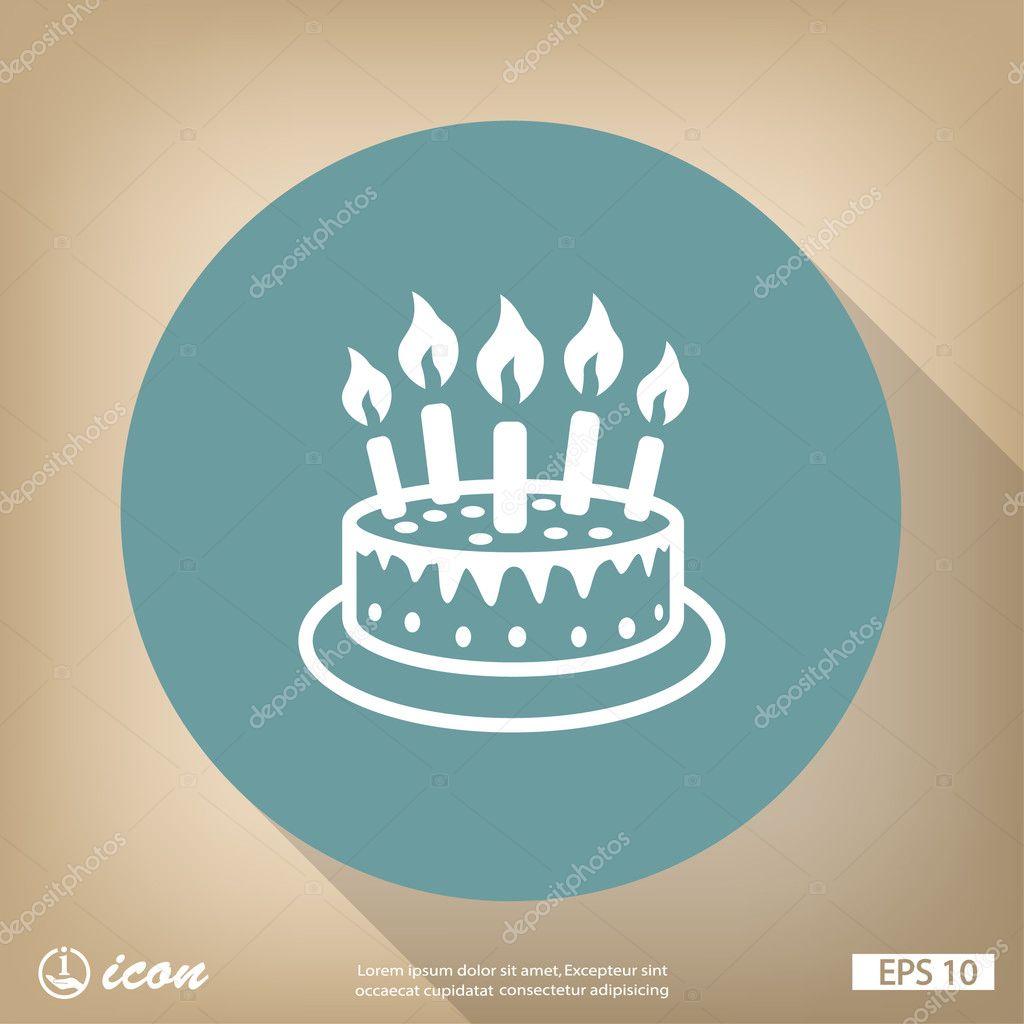 Holiday Cake Flat Design Icon Stock Vector Hristianin 100664168