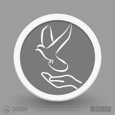 Hand with bird icon