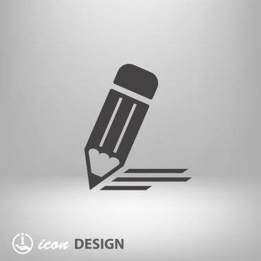 Pictograph of note concept icon