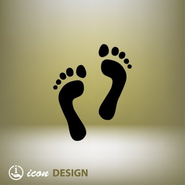 Pictograph of footprints concept icon