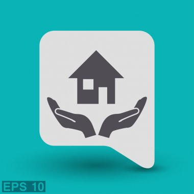 Pictograph of home concept icon