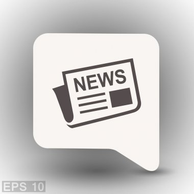 Pictograph of News concept icon