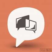 Ikona ikony koncept chat