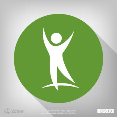 Pictograph of success people icon. Vector concept illustration for design. Eps 10 clip art vector
