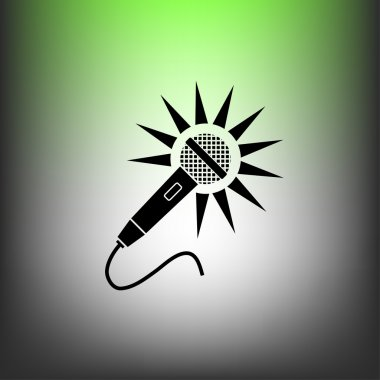 Pictograph of Microphone concept icon