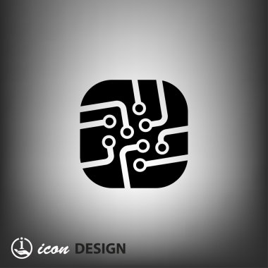 Pictograph of circuit board concept icon