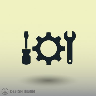 Pictograph of gear concept icon