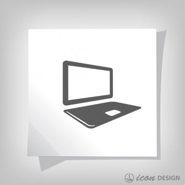 Pictograph of computer  for design