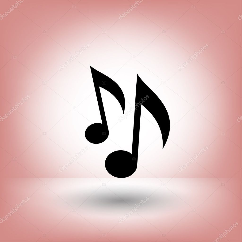 Pictograph Of Music Note Symbols Stock Vector Hristianin 124408688