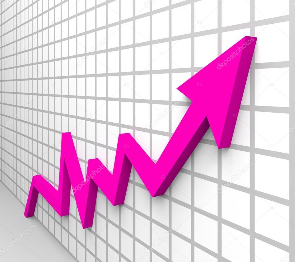 Business growth arrow — Stock Photo © hristianin #52003119