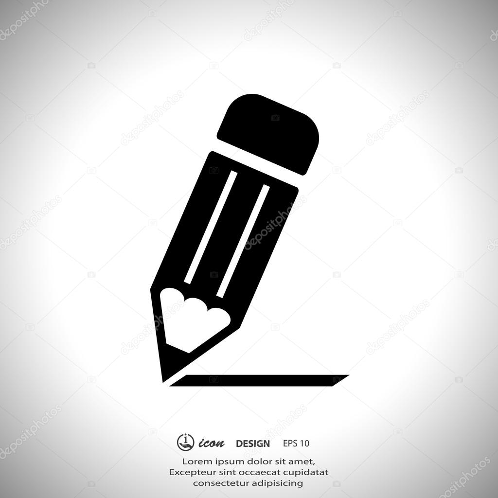 Pencil note icon