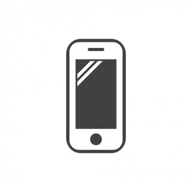 Pictograph of mobile phone icon clip art vector
