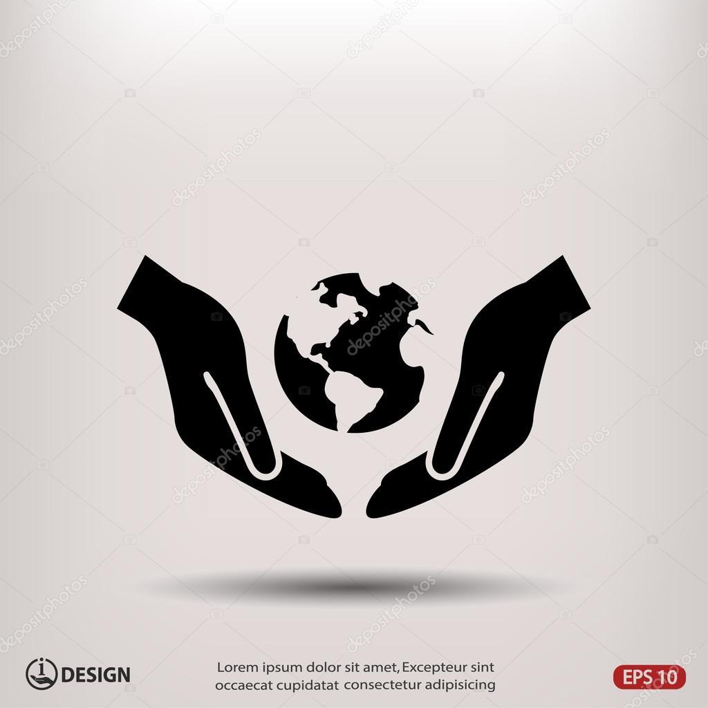 Pictograph of globe  icon