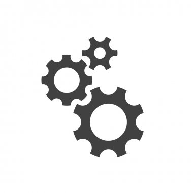 Pictograph of gear wheels