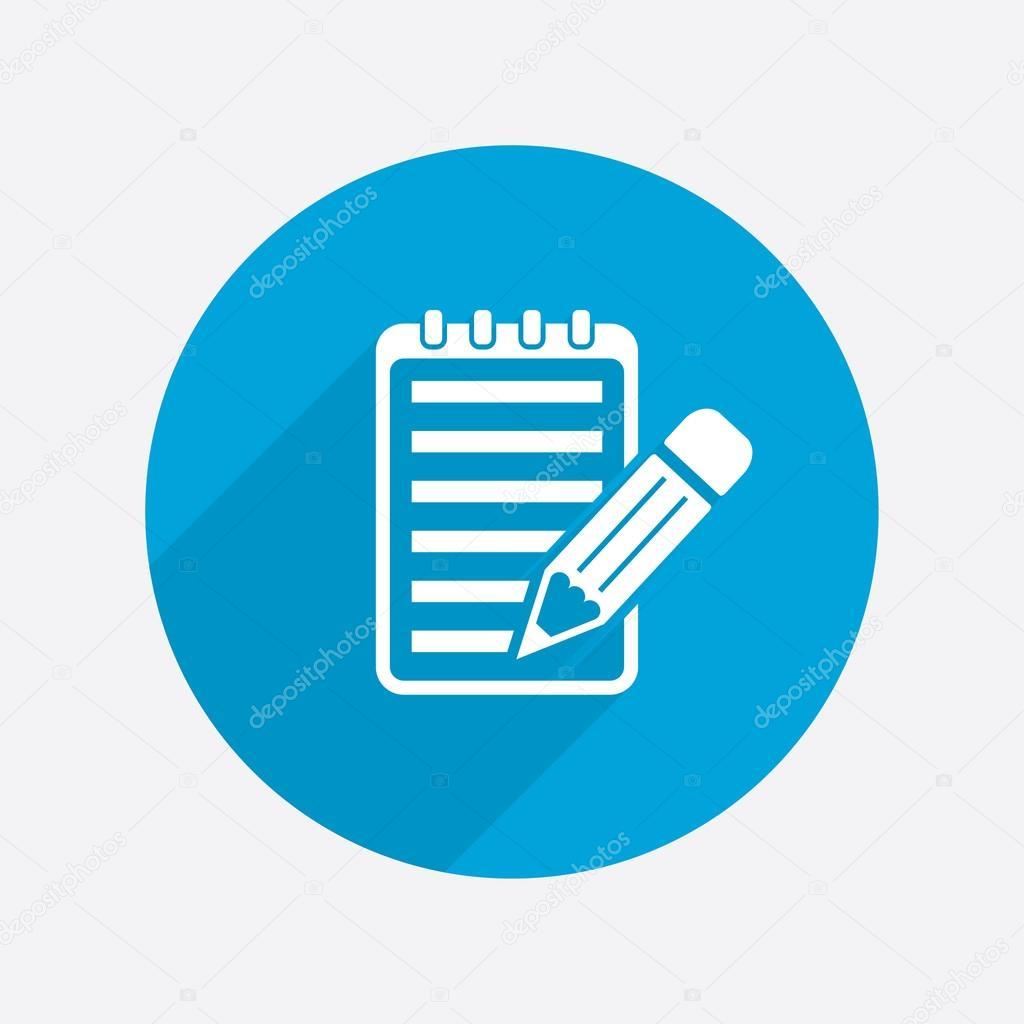 Pictogramme du bloc notes avec stylo image vectorielle - Telecharger un bloc note pour le bureau ...