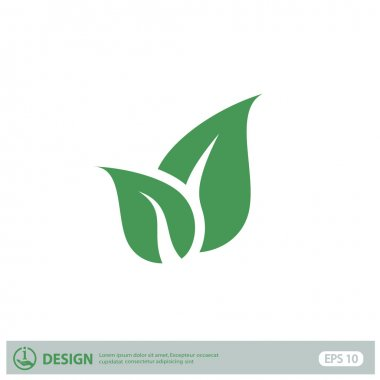 leaves, eco icon