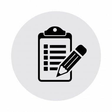 Pictograph of checklist icon illustration stock vector