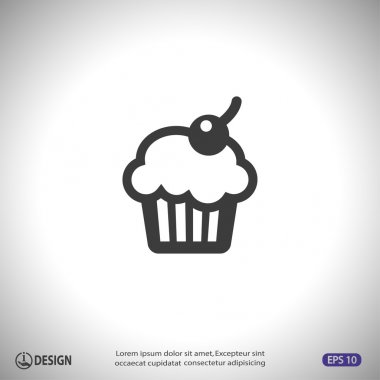 Pictograph of cake icon