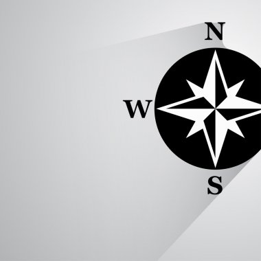 Pictograph of compass icon