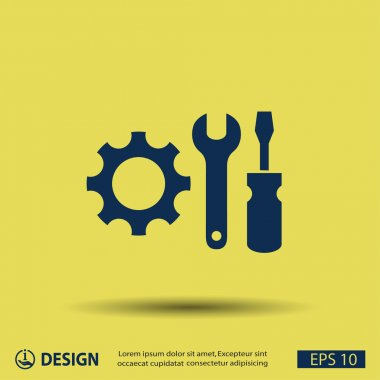 Pictograph of gears icon