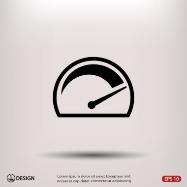 Pictograph of speedometer icon