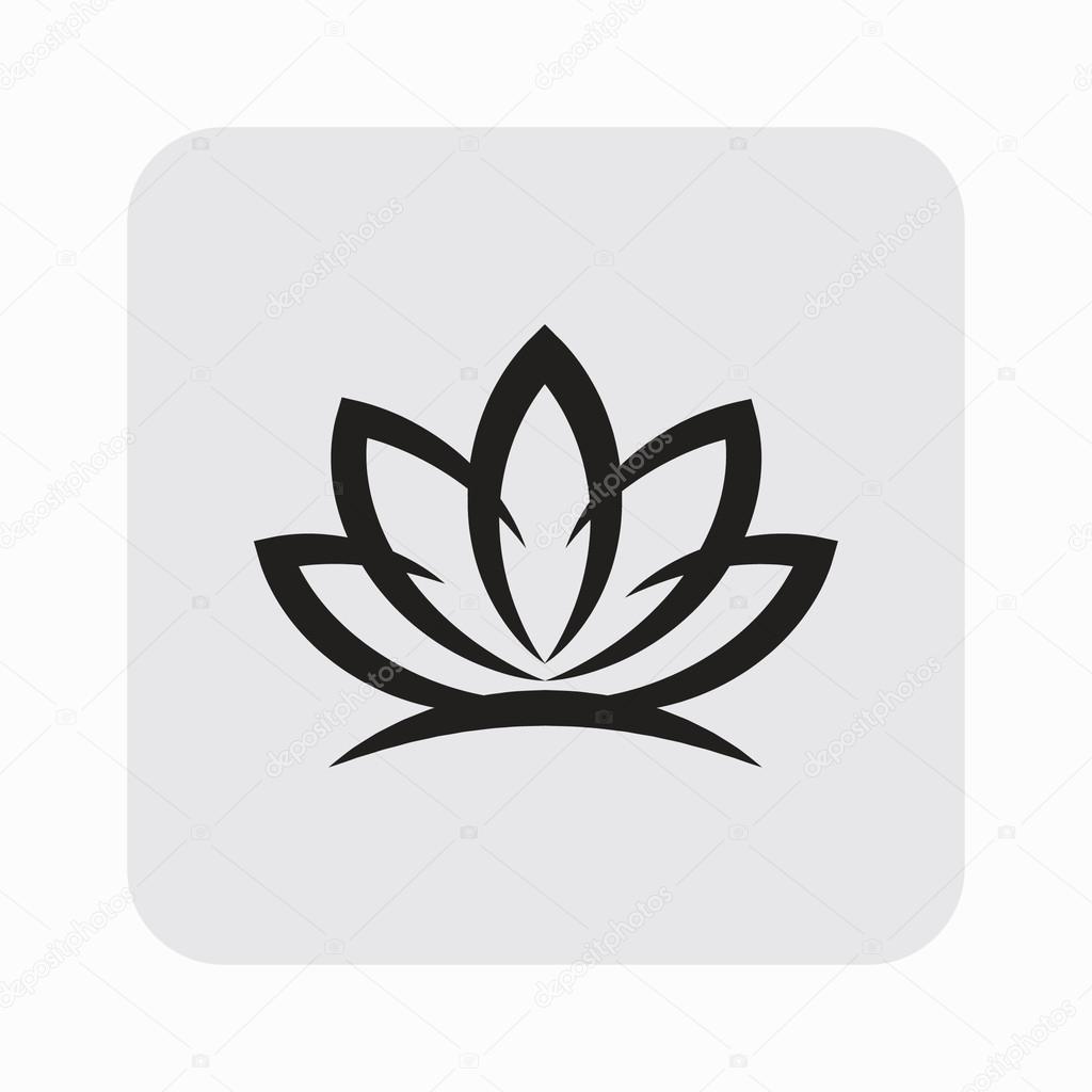 Pictogramme de fleur de lotus image vectorielle hristianin 68827617 - Fleur de lotus symbole ...