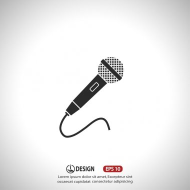 Microphone icon illustration
