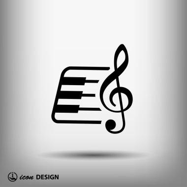 Music key and keyboard