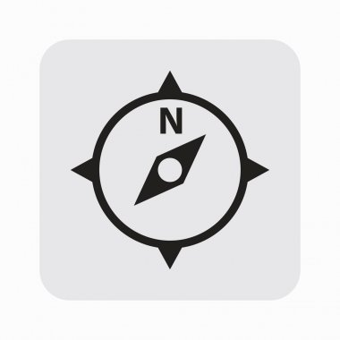 Pictograph of compass navigation