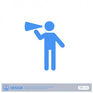 Pictograph of advertising icon illustration clip art vector
