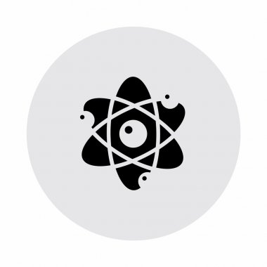 Pictograph of atom with electrons