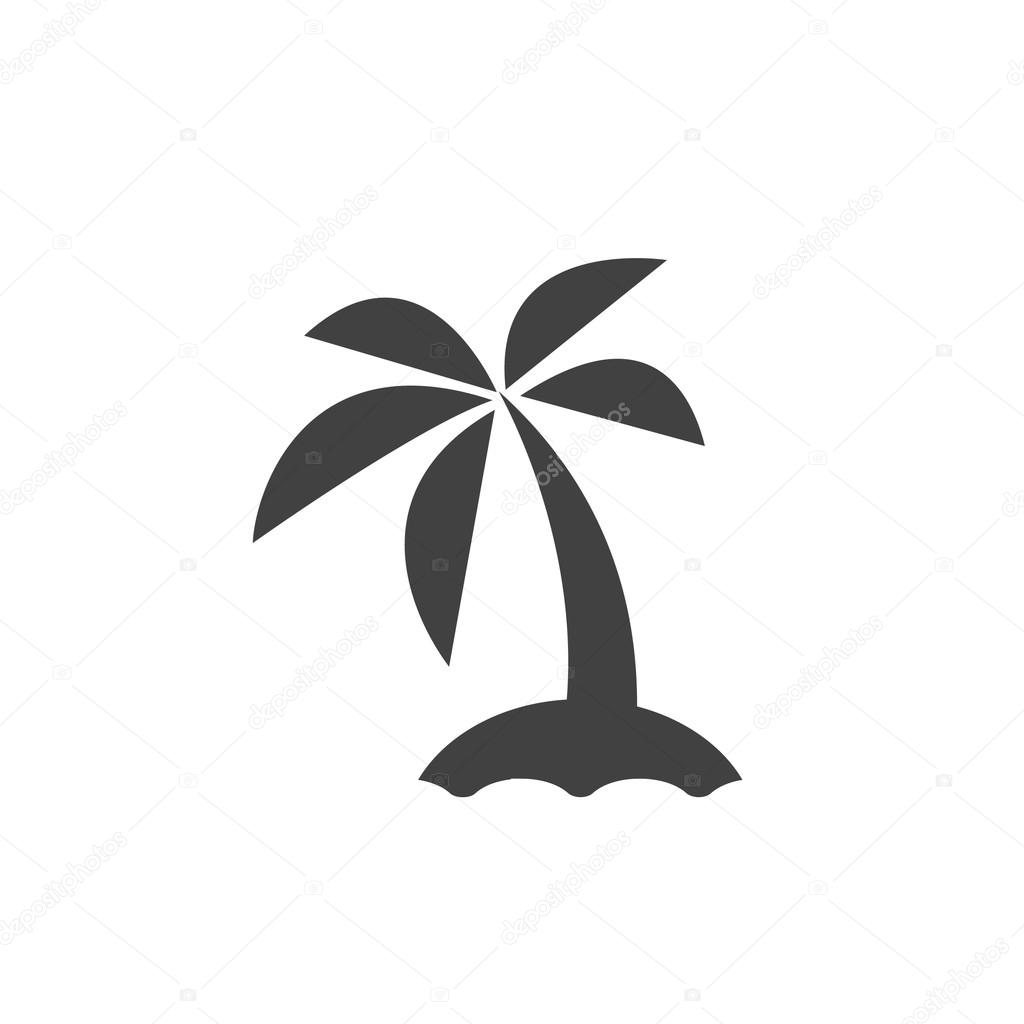 Pictograph of island with  tree