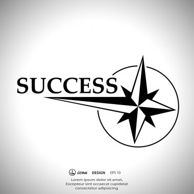 Pictograph of success icon