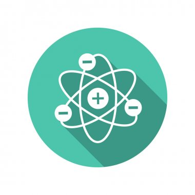 Pictograph of atom icon